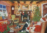 the night before christmas painting by Tracy Hall